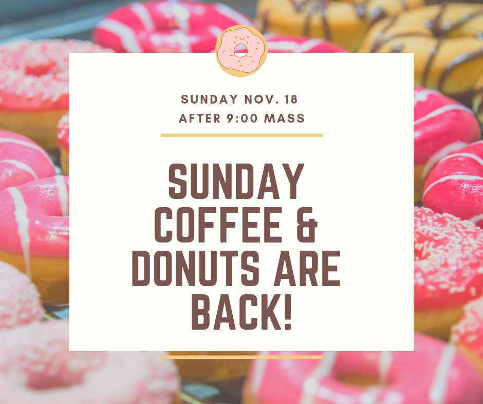 Coffee and Doughnuts are back!
