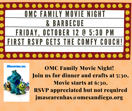 Family Movie Night and BBQ