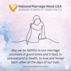 National Marriage Week