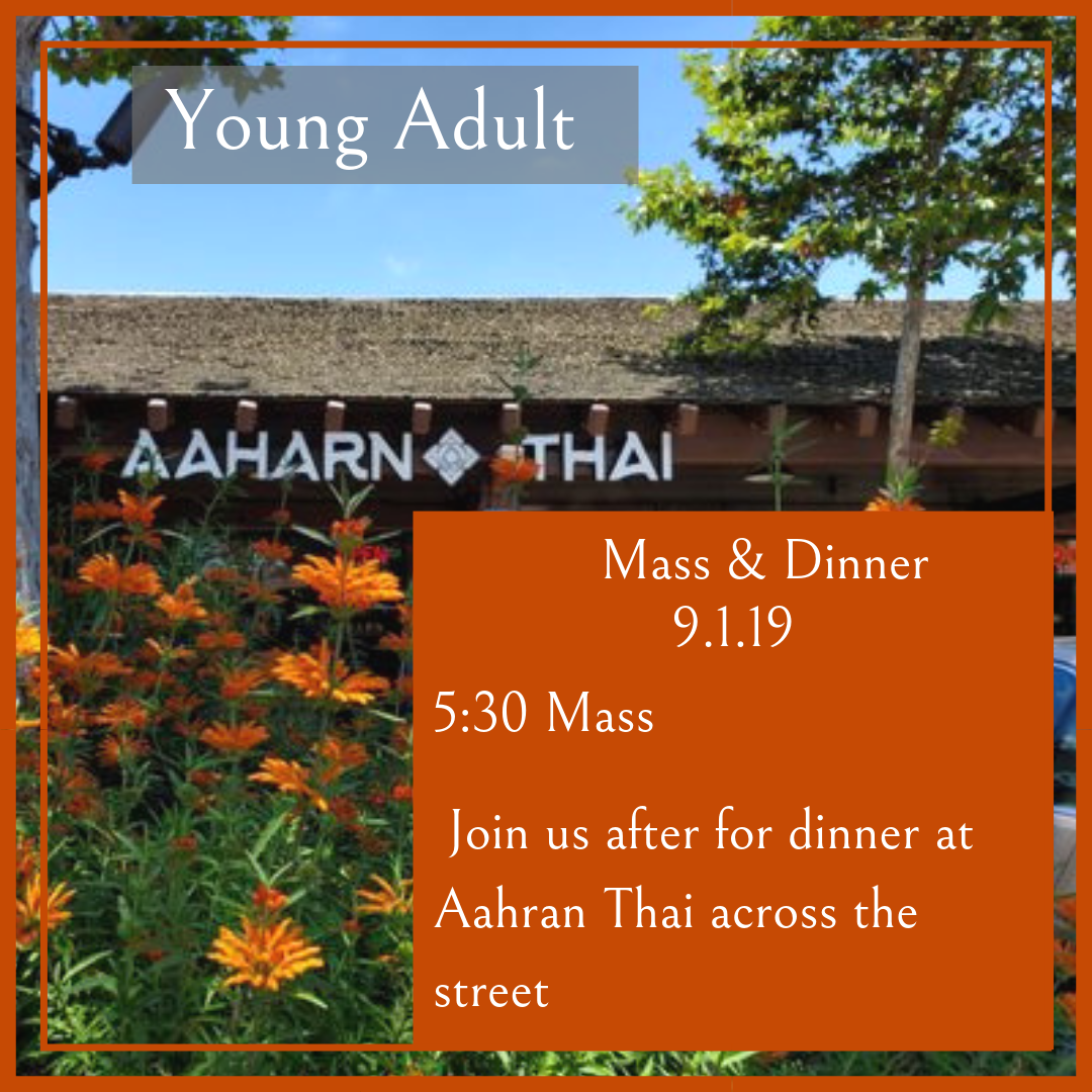 YOUNG ADULT - Mass and Dinner