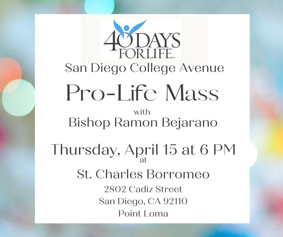 Pro-Life Mass at St. Charles Borromeo