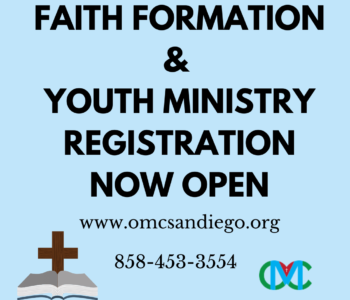 Faith Formation and Youth Ministry Registration now Open!