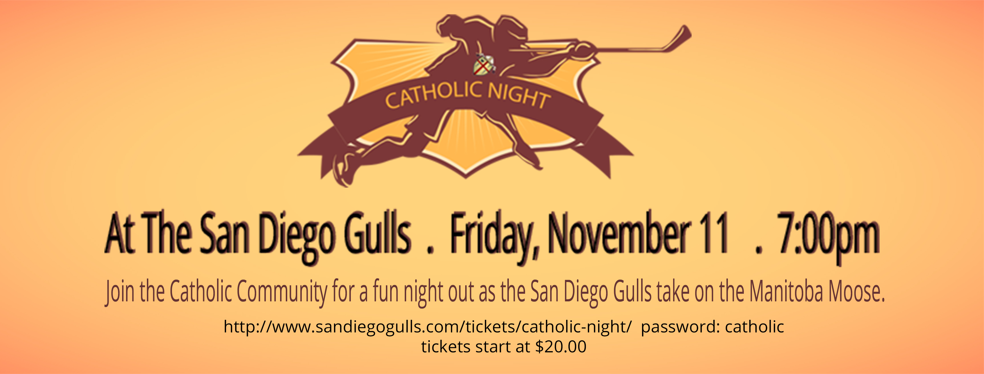 Catholic Night at the San Diego Gulls