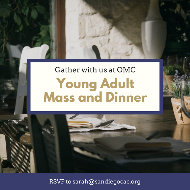 Young Adult Mass and Dinner