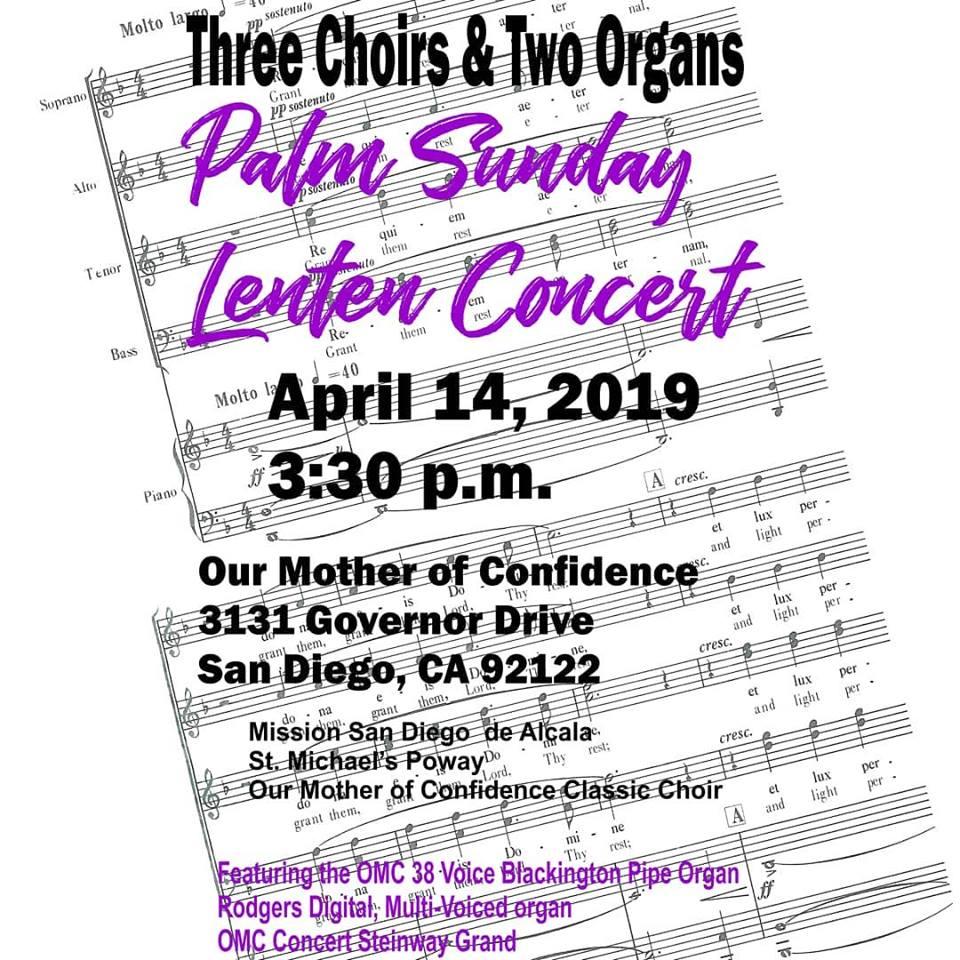 Palm Sunday Lenten Concert