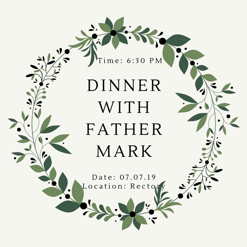 YOUNG ADULTS - Dinner with Fr. Mark
