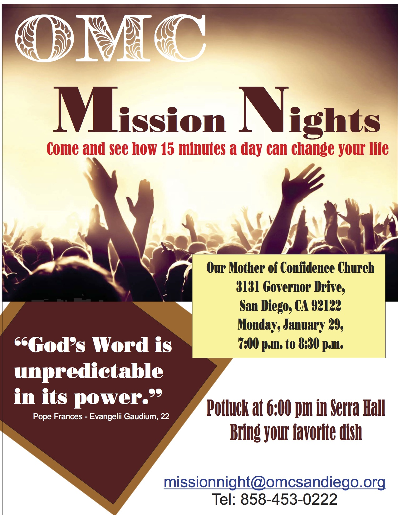 Mission Night I - 15 Minutes with God's Word
